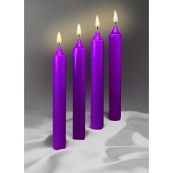 Advent Candles 12 X 1 1/2 - 51% Beeswax 4 Purple (Box)