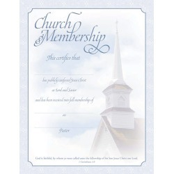 Certificate of Membership I Corinthians 1:9 (Package of 6) - 8 1/2'' x 11''