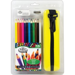 Royal Langnickel Colored Pencils - 12 Color Pencils with Case, Eraser and Sharpener found on Bargain Bro India from cokesbury.com US for $9.99