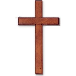 14'' Mahogany Wall Cross