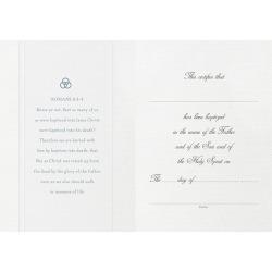 Parchment Paper Folded Baptism Certificate
