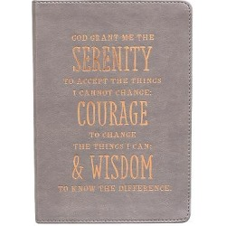 Serenity Prayer Classic Lux-Leather Journal