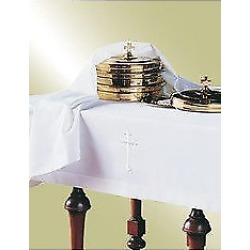 Embroidered Latin Cross Polyester Communion Table Cover 50x80