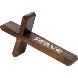 Brown Resin SERVE Table Cross 7