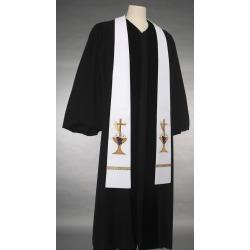 Communion White Chalice/Cross Stole