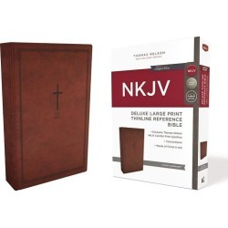 NKJV, Deluxe Thinline Reference Bible, Large Print, Imitation Leather, found on Bargain Bro India from cokesbury.com US for $34.99