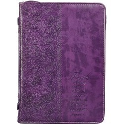 Bible Cover Xlarge Luxleather Purple/Faith found on Bargain Bro from cokesbury.com US for USD $18.99