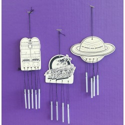 Vacation Bible School (VBS) To Mars and Beyond Wind Chimes Craft (Pkg - Explore Where God's Power Can Take You!
