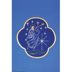 This blue Pulpit Scarf features�an Angel heralding the birth of Jesus found on Bargain Bro India from cokesbury.com US for $795.00