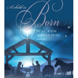 Born Nativity Christmas Bulletin, Large (Pkg of 50) found on Bargain Bro India from cokesbury.com US for $5.59