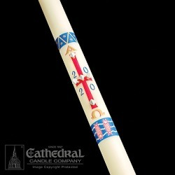 Cathedral's Classic Paschal candles are 51% beeswax and feature vibran found on Bargain Bro India from cokesbury.com US for $289.35