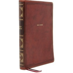 Nkjv, Thinline Reference Bible, Leathersoft, Brown, Red Letter Edition - Holy Bible, New King James Version found on Bargain Bro from cokesbury.com US for USD $22.79