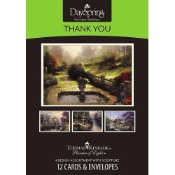 Thomas Kinkade - Thank You Boxed Cards - Box of 12 found on Bargain Bro India from cokesbury.com US for $6.99