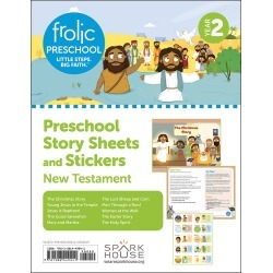 Frolic Preschool New Testament Year 2 Ages 3-5 Story Sheets and St