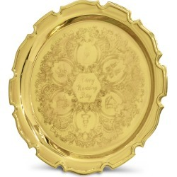Happy Wedding Day Gift Tray - Brass