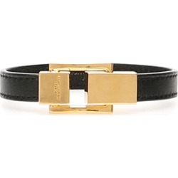 SAINT LAURENT LEATHER YSL BRACELET S Black, Gold Leather found on Bargain Bro UK from Coltorti Boutique EU