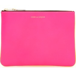 COMME DES GARCONS WALLET SUPER FLUO POUCH OS Fuchsia, Yellow Leather found on Bargain Bro UK from Coltorti Boutique EU