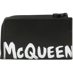 ALEXANDER MCQUEEN GRAFFITI LOGO POUCH OS Black, White Leather found on Bargain Bro UK from Coltorti Boutique EU