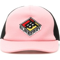 BURBERRY TRUCKER TB BASEBALL CAP S Pink, Black Wool, Technical found on Bargain Bro UK from Coltorti Boutique EU