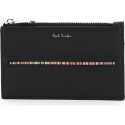 PAUL SMITH SIGNATURE STRIPE CARD HOLDER POUCH OS Black Leather found on Bargain Bro UK from Coltorti Boutique EU