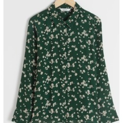 & Other Stories Floral Print Button Up Blouse