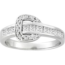 Kelly Herd Channel Set Buckle Ring- Clear found on Bargain Bro India from equestrian collections for $93.99