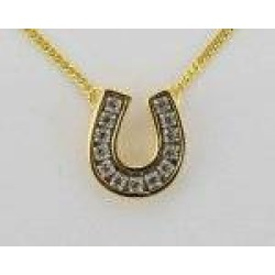 Finishing Touch Channel Horseshoe Necklace - Crystal found on Bargain Bro India from equestrian collections for $17.99