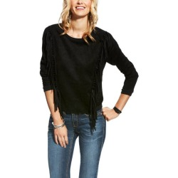 Ariat Faux Suede Fringe Pullover - Ladies - Black found on Bargain Bro India from equestrian collections for $28.00
