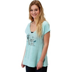 Roper 1607 Poly Cotton Knit V Neck Tee - Ladies found on Bargain Bro from equestrian collections for USD $22.79