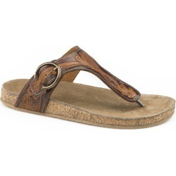 Roper Ladies Mira Tooled Thong Sandals found on Bargain Bro India from equestrian collections for $58.39