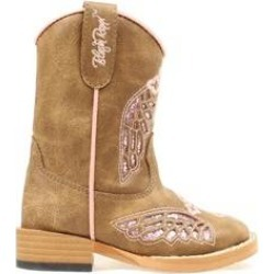 Blazin Roxx Gracie Wing & Cross Western Boot - Toddler Girls, Pink/Brown found on Bargain Bro India from equestrian collections for $40.95
