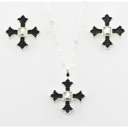 Western Edge Jewelry Filled Cross Jewelry Set found on MODAPINS from equestrian collections for USD $37.21