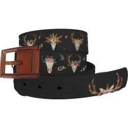 C4 Belt Cow Skulls Black Belt with Khaki Buckle Combo found on Bargain Bro Philippines from equestrian collections for $34.99
