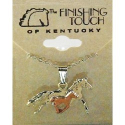 Finishing Touch 2-Tone Mare And Foal Necklace found on Bargain Bro Philippines from equestrian collections for $8.56
