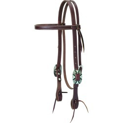 Weaver Working Cowboy Browband Rope Edge Headstall found on Bargain Bro Philippines from equestrian collections for $56.99