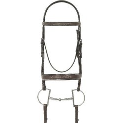 Ovation Fancy Wide Padded Bridle with Lace Reins found on Bargain Bro Philippines from equestrian collections for $199.95