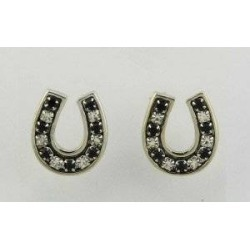 Finishing Touch Channel Horseshoe Earrings - Black found on Bargain Bro India from equestrian collections for $17.99
