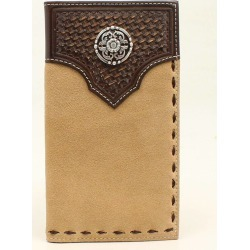Ariat Mens Rodeo Basketweave Emboss Round Concho Tab Laced Edge Wallet found on Bargain Bro India from equestrian collections for $40.95