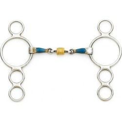Centaur 2 Ring Gag with Loose Copper Roller Disks found on Bargain Bro Philippines from equestrian collections for $38.71