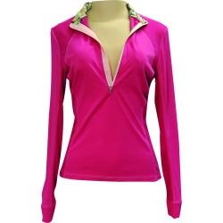 FITS  Sea Breeze Long Sleeve Tech Shirt - Ladies - Pink
