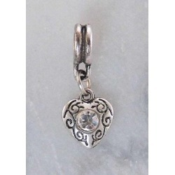 Joppa Heart with  Stone Dangle Bead found on Bargain Bro India from equestrian collections for $3.19