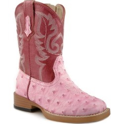 Roper Toddler Bumps Wide Square Toe Cowgirl Boots - Pink found on Bargain Bro Philippines from equestrian collections for $57.99