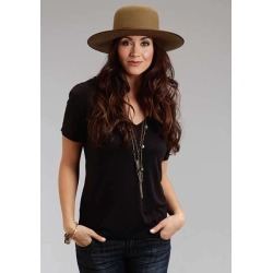 Stetson Ladies Fall II Rayon Knit V Neck T Shirt