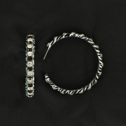 Blazin Roxx Zebra Crystal Hoop Earrings found on Bargain Bro Philippines from equestrian collections for $15.95