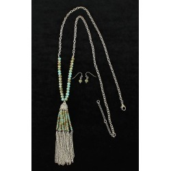 Blazin Roxx Dangle Beads And Chain Earrings And Necklace Set found on Bargain Bro India from equestrian collections for $19.99