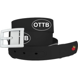 C4 Belt OTTB Black Belt with White Buckle Combo found on Bargain Bro Philippines from equestrian collections for $34.99