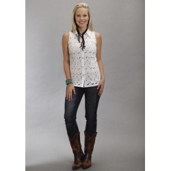Stetson Ladies Summer I Eyelet Sleeveless Western Snap Shirt found on Bargain Bro India from equestrian collections for $62.99