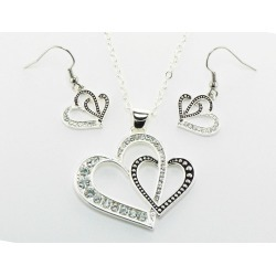Western Edge Jewelry Double Heart Jewelry Set