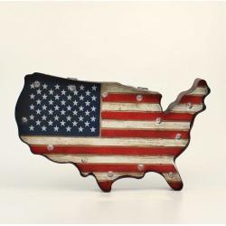 Western Moments Led Usa Sign