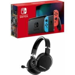 Nintendo Switch - Neon (improved battery) with Steelseries Arctis 1 Wireless Headset for Switch found on Bargain Bro UK from game UK